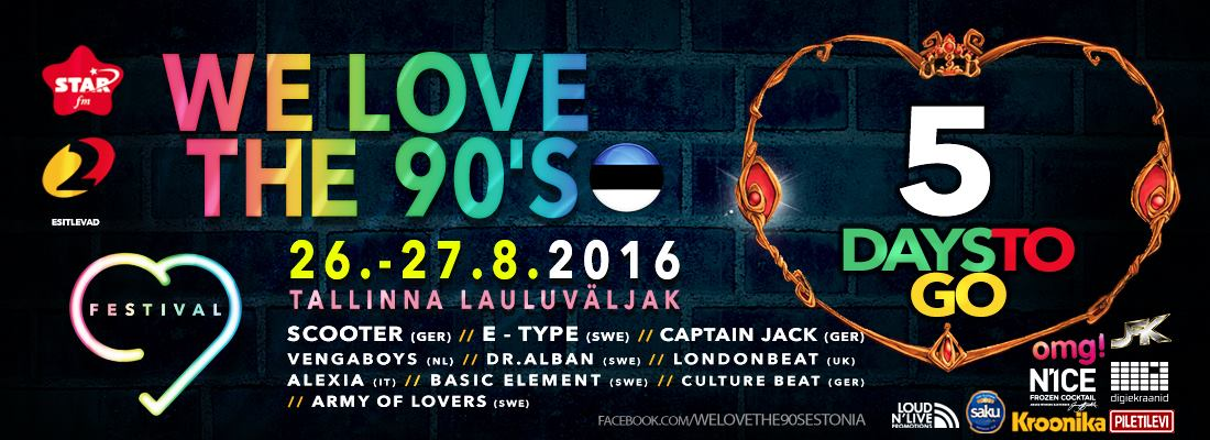 We Love The 90s Tallinn Basic Element